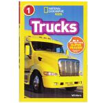 英文原版绘本 National Geographic Readers: Trucks 卡车 美国国家地理分级阅读初阶