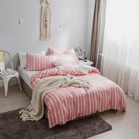 床上四件套纯棉柔软双人简约北欧全棉家用ins风冬天床单被套定制