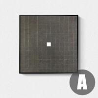 现代简约抽象装饰画 客厅样板间墙画壁画黑白极简艺术画北欧挂画 A款 ABP15469-2 102x102 高雅黑框 &l