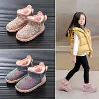 儿童雪地靴女童鞋子小童冬季短靴子女宝宝