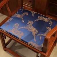 新中式红木椅垫古典实木家具餐椅坐垫定做圈椅垫防滑太师椅子坐垫