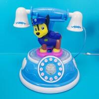 乐器玩具蓝色小狗电话机卡通电动粉红狗狗电话机灯光音乐电话玩具粉红小猪