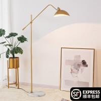北欧落地灯客厅卧室ins风欧式简约轻奢创意美式遥控沙发立式台灯