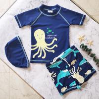 男童宝宝泳裤套装中小童男孩游泳装备新款儿童分体游泳衣