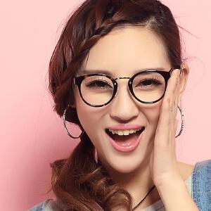 威古氏 女款时尚板材显瘦眼镜架 复古文艺气质近视眼镜框 5023