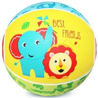 卡通球儿童小皮球篮球幼儿园玩具岁2cm 3岁7cm 橡胶篮球抖音