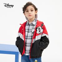 【4折�A估�r:118.2元】迪士尼男童�B帽外套2021春�b新款洋��和�����卡通�r尚梭�童�b潮