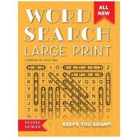 英文原版 Word Search Large Print 全球探索 英语填字游戏 橙色