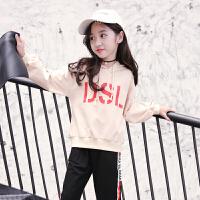 女童卫衣2018秋装新款儿童中大童时尚长袖上衣韩版洋气连帽套头衫YW-MY-19