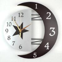 钟表挂钟客厅个性创意钟表家用时尚简约静音挂表卧室家用石英时钟