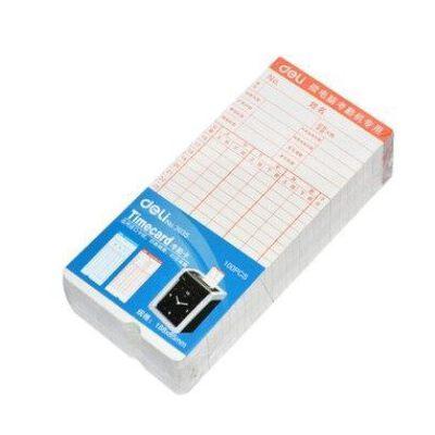 得力3935考勤卡考勤白卡考勤机 打卡机纸卡考勤机耗材 100张