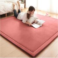 定做日式家用地垫加厚防滑珊瑚绒地毯床边飘窗垫防摔垫儿童爬行垫定制