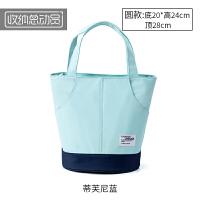 铝箔保温便当包 加厚手提饭盒袋带饭的防水手提包盒饭袋子盒帆布