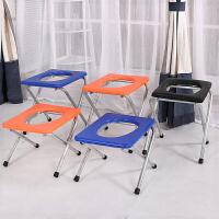 折�B�和�坐便器老人坐便椅孕�D坐便凳��所椅�y�ё�便�易移�玉R桶 藏青色 38cm高�{色椅子