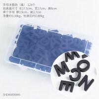 英文字母磁性贴北欧创意家居厨房餐厅英文字母磁力贴装饰品个性立体冰箱磁性贴 字母磁铁贴冰箱贴-124个带盒子 小