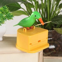 牙签盒全自动 抖音同款小鸟牙签盒居家啄木鸟筒创意时尚全自动按压式网红牙签桶w1