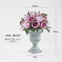 北欧花瓶摆件家居客厅插花盆栽玫瑰仿真花假花水泥艺术花器饰品抖音