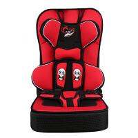 简易儿童安全座椅婴儿汽车座椅用背带宝宝安全带便携式坐垫0-12岁 升级增高款 红色2-12岁