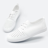 2019夏季新款镂空透气百搭小白鞋女学生休闲鞋板鞋一脚蹬女士鞋子夏季单鞋护士鞋