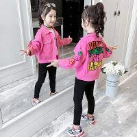 2019秋季新款韩版洋气童装儿童休闲上衣女童牛仔外套