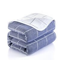 六�蛹�布毛巾被棉�坞p人�和�毛毯被子沙�l毯午睡毯空�{毯�w毯定制 200x240cm �p人被