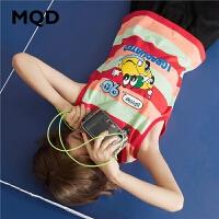 【2件35折:91】MQD童装男童夏装2020新款儿童条纹背心男孩夏季T恤短袖运动衫上衣