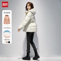 高梵2021新品短款羽绒服女白鸭绒矮小个子女士韩版时尚宽松