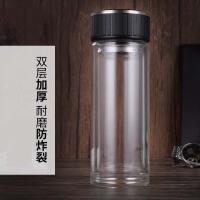 双层耐热玻璃杯加厚隔热男女士便携商务过滤泡茶水杯子