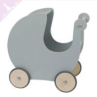儿童助步车宝宝学步车木质手推车婴儿童实木玩具幼儿助步车6-7-18个月男女孩QL-32