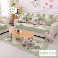 四季通用纯棉欧式布艺沙发垫全棉坐垫防滑靠背巾罩套t定制