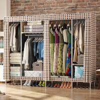 简易布衣柜组装简约现代经济型家用布艺儿童寝室租房收纳柜子衣橱 2门
