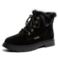 瘦瘦短靴棉鞋新款ins马丁靴子女英伦风复古女鞋短筒冬季加绒