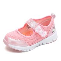 【4折价:91.6元】HelloKitty童鞋女童网鞋夏季新款女孩透气运动鞋儿童单网鞋K0513856