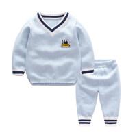 婴儿毛衣套装宝宝毛衣开衫外套衣服秋女男纱衣线衣0-1-3岁春秋婴儿针织衫套装MYZQ77