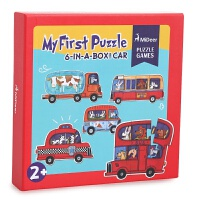拼图儿童纸质加厚拼图玩具宝宝智力玩具2-3-4-5-6周岁 大块拼图 交通款 赠贴画一张