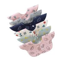 男宝宝口水巾360度旋转可爱女花瓣围脖婴儿围嘴棉围兜