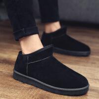 冬季雪地靴男保暖加绒加厚男士大码棉鞋情侣休闲鞋潮流韩版面包鞋