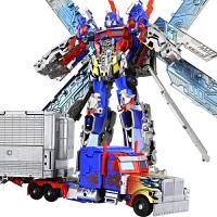 变形金刚擎天柱带车厢变形玩具金刚5车厢ut擎天柱大黄蜂汽车机器人模型男孩