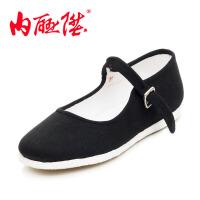 内联升 女鞋布鞋手工千层底一代休闲布鞋时尚休闲 女鞋 老北京布鞋 8201A