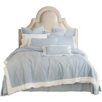 简约大气四件套60支纯棉全棉长绒棉床单被套床笠款床上用品六件套 1.5m床 床单款四件套【适用200*230cm被