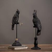 装饰品摆件创意客厅酒柜摆设家居饰品树脂工艺品美式复古北欧树脂鹦鹉摆件