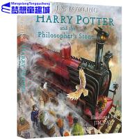 哈利波特与魔法石全彩绘本 英文原版 1 Harry Potter and the Sorcerer's Stone