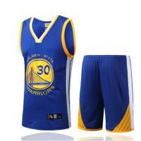 勇士队30号库里训练服 男士篮球服套装 比赛训练NBA篮球服T恤