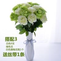 单支仿真玫瑰花束绢花婚庆客厅茶几装饰假花摆放花艺