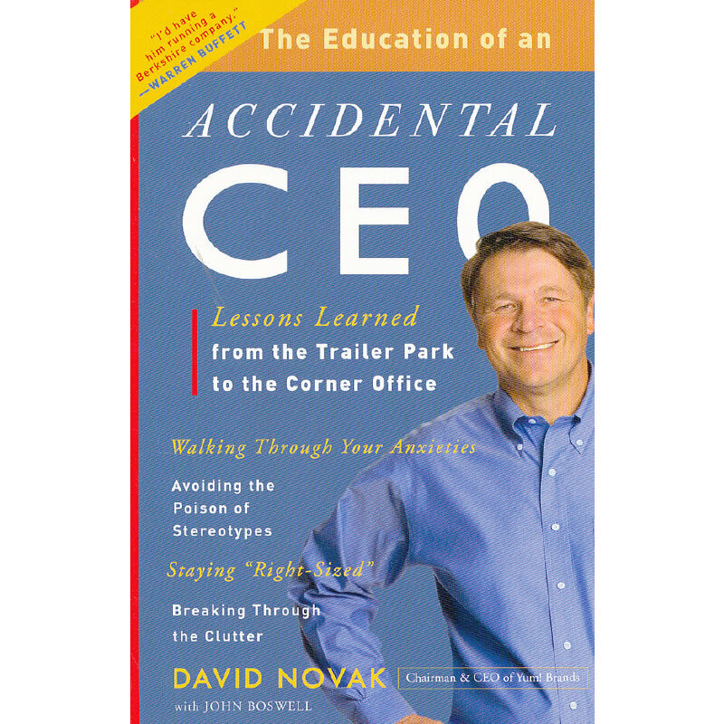 EDUCATION OF AN ACCIDENTAL CEO(ISBN=9780307451798) 英文原版