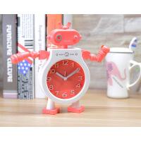 机器人模型单面塑料卧室床头学生儿童简约现代台钟闹钟个性