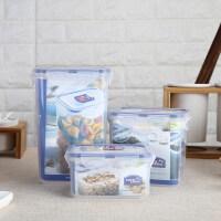乐扣乐扣 塑料保鲜盒3件套装 密封盒冰箱收纳 HPL807S001 半透明