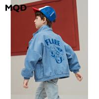 MQD男童外套立领中大童蝙蝠袖上衣2019新款秋装儿童韩版宽松开衫