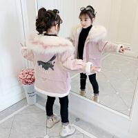 女孩加厚棉衣儿童冬装外套2019新款韩版中大童女童棉袄
