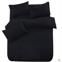 黑色学生四件套宿舍单人被套加大双人2米床上床单床笠